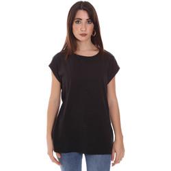 Vêtements Femme T-shirts manches courtes Lumberjack CW60343 011EU Noir