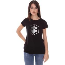Vêtements Femme T-shirts manches courtes Lumberjack CW60343 015EU Noir