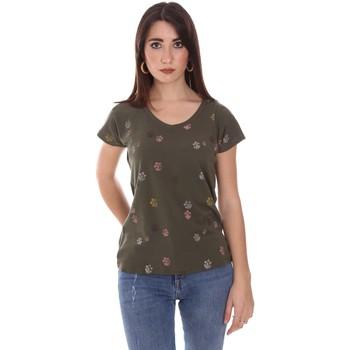 Vêtements Femme T-shirts manches courtes Lumberjack CW60343 013EU Vert