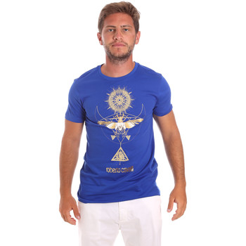 Vêtements Homme T-shirts manches courtes Roberto Cavalli HST65B Bleu