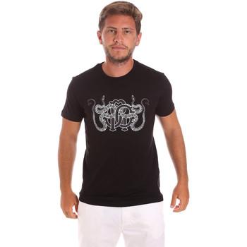 Vêtements Homme T-shirts manches courtes Roberto Cavalli HST66B Noir