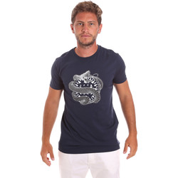 Vêtements Homme T-shirts manches courtes Roberto Cavalli HST64B Bleu