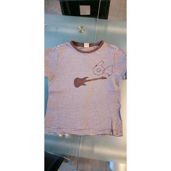 Vêtements Garçon T-shirts manches courtes Autre T-shirt manches courtes rayé Marron
