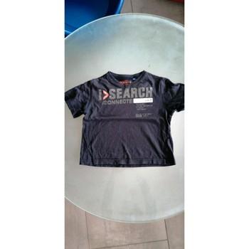 Vêtements Garçon T-shirts manches courtes Okaïdi T-shirt col V Bleu