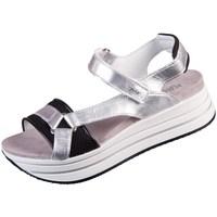 Chaussures Femme Sandales et Nu-pieds IgI&CO Skay Noir, Argent