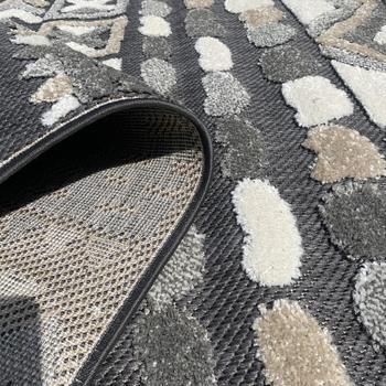 Maison & Déco Tapis No Name Tapis design et moderne Crossli Relief Gris 60x110 cm Gris