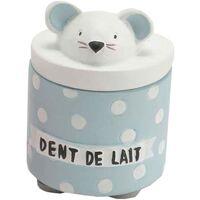 Maison & Déco Paniers, boites et corbeilles Le Monde Des Animaux Petite boite à dents de lait Bleue Bleu