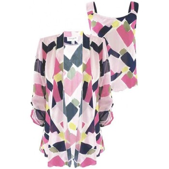 Vêtements Femme Vestes Georgedé Twinset Ornella en Mousseline Imprimé Rose Multicolore
