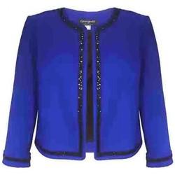 Vêtements Femme Vestes Georgedé Veste Cassandre Courte en Jersey Bleu Royal Bleu