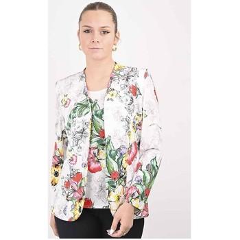 Vêtements Femme Costumes  Georgedé Twinset Léa Imprimé Top et Veste Fleuri Multicolore