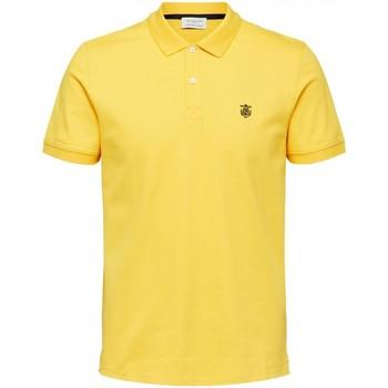 Vêtements Homme Polos manches courtes Selected Polo manches courtes Taille : H Jaune S Jaune