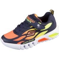 Chaussures Enfant Baskets basses Skechers Flex Glow Orange, Jaune, Graphite