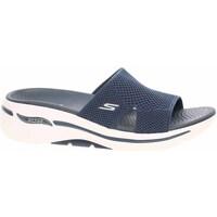 Chaussures Femme Mules Skechers GO Walk Arch Fit Bleu marine