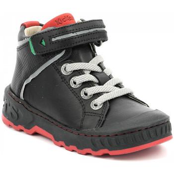 Chaussures Garçon Baskets montantes Kickers Kick Teen NOIR