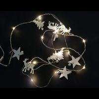 Maison & Déco Décorations festives Silumen Guirlande LED 1M50 15LED IP20 - Blanc