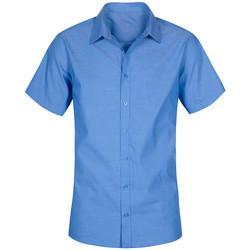 Vêtements Homme Chemises manches courtes Promodoro Chemise Oxford Manches Courtes grandes tailles Hommes bleu nuit