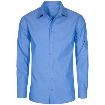Vêtements Homme Chemises manches longues Promodoro Chemise Oxford Manches Longues Hommes bleu nuit