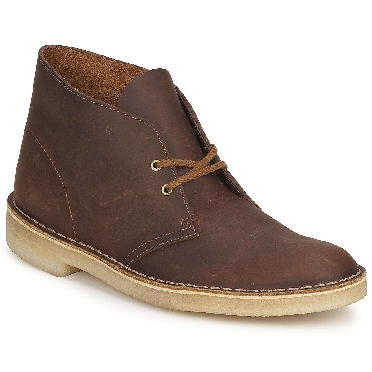clarks desert boot marron livraison gratuite avec chaussures boots homme 129 00. Black Bedroom Furniture Sets. Home Design Ideas