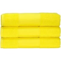 Maison & Déco Serviettes et gants de toilette A&r Towels 50 cm x 100 cm Jaune vif