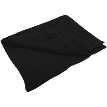 Maison & Déco Serviettes et gants de toilette Sols 30 cm x 50cm Noir