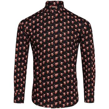 Vêtements Homme Chemises manches longues Christmas Shop CS001 Noir/ rennes