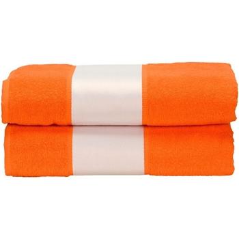Maison & Déco Serviettes et gants de toilette A&r Towels Taille unique Orange vif