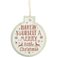 Maison & Déco Décorations de noël Christmas Shop Taille unique Blanc Merry Little Christmas