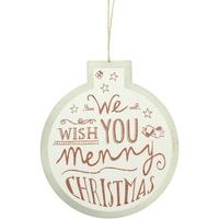Maison & Déco Décorations de noël Christmas Shop Taille unique Blanc We Wish You