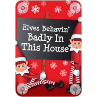 Maison & Déco Votre conseiller est en train décrire Christmas Shop Taille unique 'Elves behaving badly in this house'