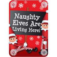 Maison & Déco Votre conseiller est en train décrire Christmas Shop Taille unique 'Naughty elves are living here'