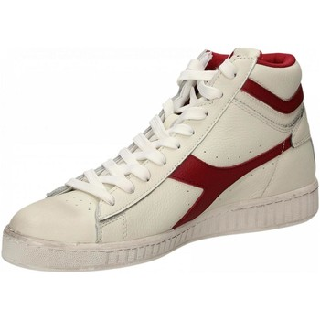 Chaussures Baskets montantes Diadora GAME L HIGH WAXED c5147-bianco-rosso
