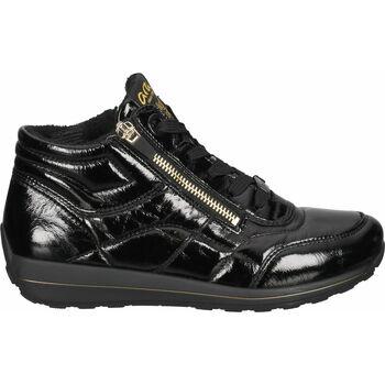 Chaussures Femme Baskets montantes Ara Sneaker Schwarz Lack