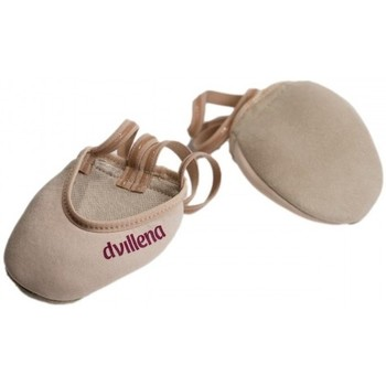 Chaussures Femme Sport Indoor Dvillena Embouts de gymnastique rythmique ELEGANTE Beige