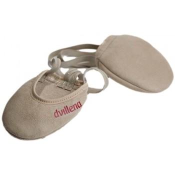 Chaussures Femme Sport Indoor Dvillena PLANCHES DE GYMNASTIQUE RYTHMIQUE GUANTE Beige