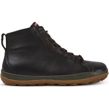 Chaussures Homme Boots Camper Baskets cuir Peu Pista GM marronfonc