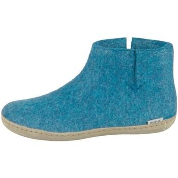 Chaussures Femme Boots Glerups DK Petrol Lammwollfilz Turquoise