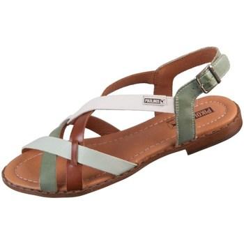 Chaussures Femme Sandales et Nu-pieds Pikolinos Algar Blanc, Vert, Marron