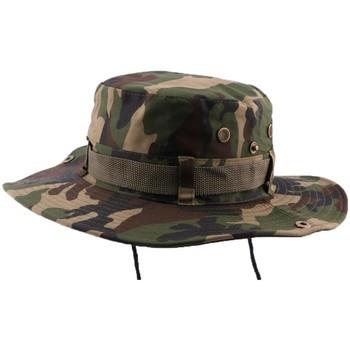 Accessoires textile Chapeaux Hip Hop Honour Bob Safari Army Camouflage avec lien Vert
