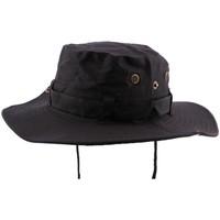 Accessoires textile Chapeaux Hip Hop Honour Bob Safari Noir avec lien de serrage Noir