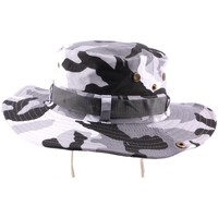 Accessoires textile Chapeaux Hip Hop Honour Bob Safari Army Gris avec lien Gris