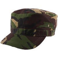 Casquettes Nyls Création Casquette Army Camouflage Vert Marron