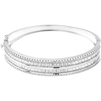 Montres & Bijoux Femme Bracelets Cleor Jonc  en Argent 925/1000 Blanc et Oxyde Blanc