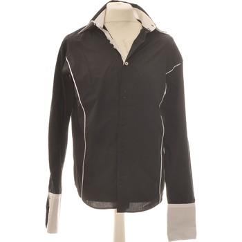 Vêtements Homme Chemises manches longues Armand Thiery Chemise Manches Longues  42 - T4 - L/xl Noir