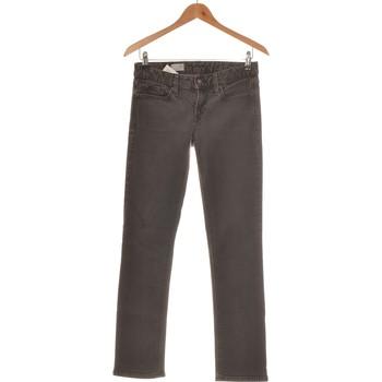 Vêtements Femme Jeans droit Gap Jean Droit Femme  36 - T1 - S Gris