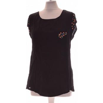 Vêtements Femme Tops / Blouses Promod Top Manches Courtes  34 - T0 - Xs Noir