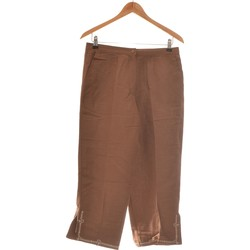Vêtements Femme Pantalons fluides / Sarouels Anne Weyburn Pantalon Droit Femme  40 - T3 - L Marron
