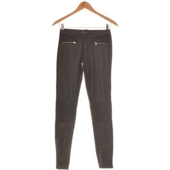 Vêtements Femme Pantalons fluides / Sarouels Zara Pantalon Slim Femme  34 - T0 - Xs Noir