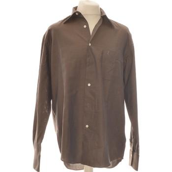 Vêtements Homme Chemises manches longues Yves Saint Laurent Chemise Manches Longues  40 - T3 - L Marron