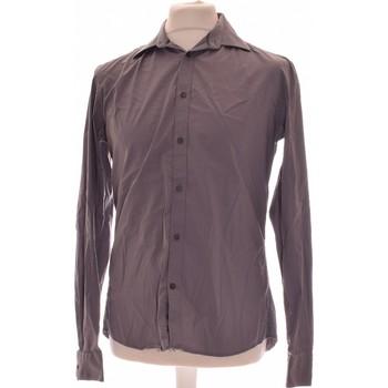 Vêtements Homme Chemises manches longues Celio Chemise Manches Longues  38 - T2 - M Gris