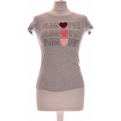 Vêtements Femme Tops / Blouses Naf Naf Top Manches Courtes  34 - T0 - Xs Gris
